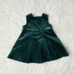 NWT vtg 1999 Gap green velvet baby dress 12-18 mo